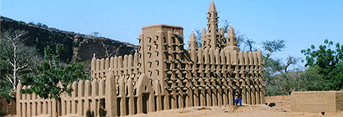 Lehmbauarchitektur in Mali